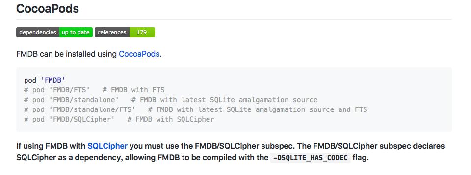 iOS – 使用FMDB进行sqlite数据库加密